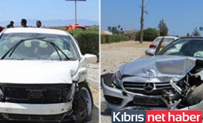 Mağusa'da kaza! 2 yaralı
