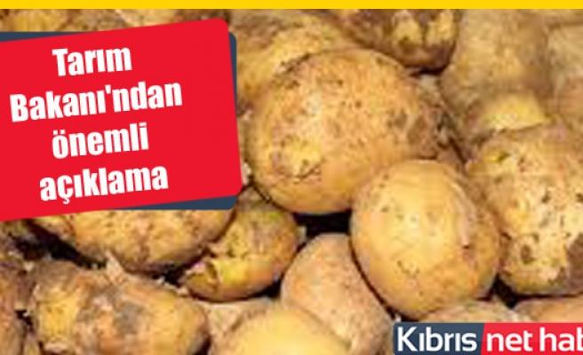 Tarım Bakanı'ndan patates açıklaması