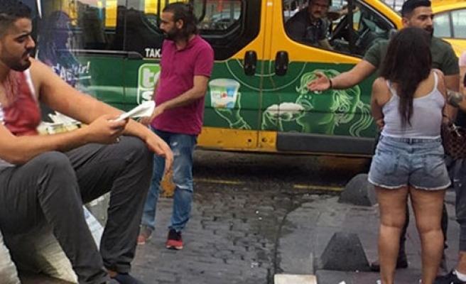Turistler arasında kavga çıktı!