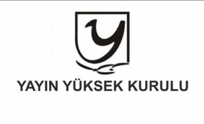 YYK Kanal T'ye Para, Kıbrıs TV'ye Uyarı Cezası Verdi