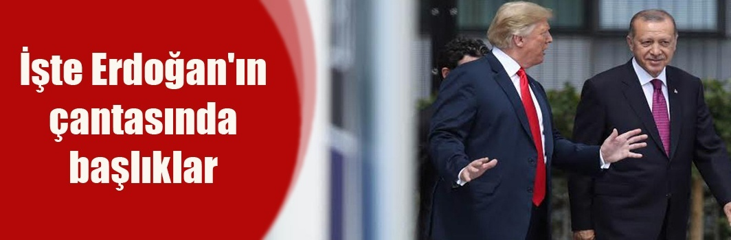 İşte Erdoğan'ın çantasında başlıklar