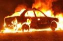 Karaoğlanoğlu'nda araç yangını!