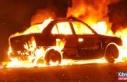 Girne-Lefkoşa anayolunda araç yangını!