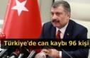 Türkiye'de can kaybı 96 kişi