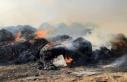 İncirli'deki yangında 200 balya ve 25 ton arpa...