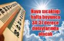 Hava sıcaklığı hafta boyunca 34-37 derece dolaylarında...