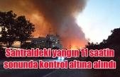 Santraldeki yangın 11 saatin sonunda kontrol altına alındı