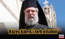 Başpiskopos'tan dünyaya çağrı: Kuzey Kıbrıs'ı terk etsinler