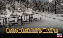 Trodos'ta kar kalınlığı yükseliyor