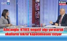 Amcaoğlu: KTOES negatif algı yaratarak okulların tekrar kapatılmasını istiyor