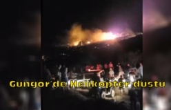 Güngör'de Helikopter düştü
