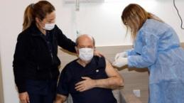 Cumhurbaşkanı Ersin Tatarı'ın Covid-19 aşısı olduktan sonra yaptığı açıklama.
