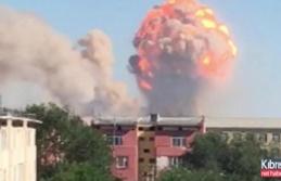 Orduya ait depoda art arda patlama