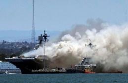 ABD'ye ait savaş gemisinde büyük yangın!