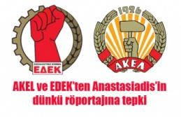 AKEL ve EDEK'ten Anastasiadis'in dünkü röportajına tepki