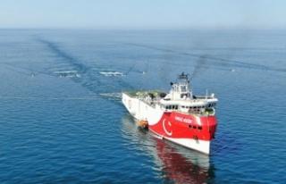 Türkiye'nin ilk sismik araştırma gemisi...
