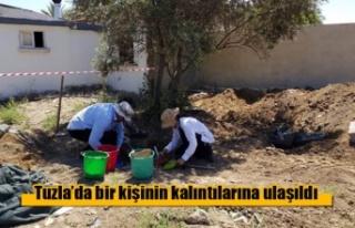 Tuzla'da bir kişinin kalıntılarına ulaşıldı