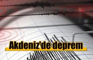 Akdeniz'de 3, 2 büyüklüğünde deprem