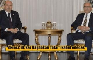 Akıncı, ilk kez Başbakan Tatar'ı kabul edecek