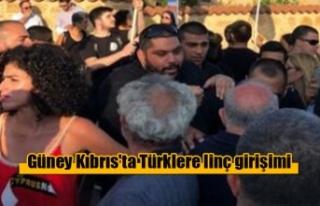 Güney Kıbrıs'ta Türklere linç girişimi