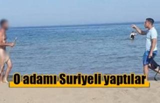 Kıbrıs'ta sahilde çıplak gezen adam Türkiye'de...