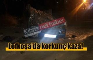 Lefkoşa-Sanayi bölgesinden korkunç kaza!