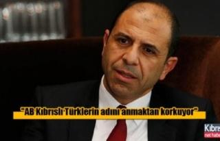 ''AB Kıbrıslı Türklerin adını anmaktan...