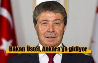 Bakan Üstel, Ankara'ya gidiyor