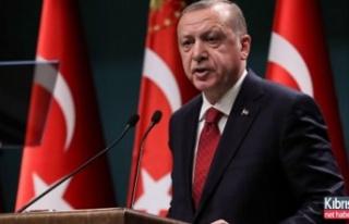 Erdoğan'dan Kıbrıs Barış Harekatı mesajı