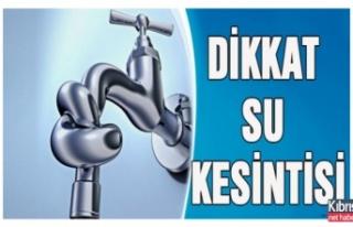 Gazimağusa'ya Yeterli Su Verilemiyor