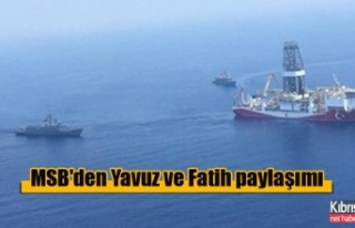 MSB'den Yavuz ve Fatih paylaşımı