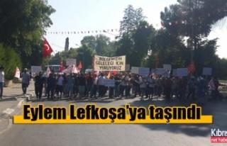 Eylem Lefkoşa'ya taşındı