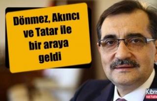 Fatih Dönmez, Akıncı ve Tatar ile bir araya geldi