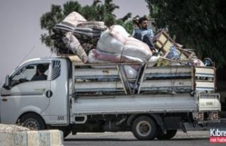 İdlib saldırılarında 124 bin sivil sınır kamplarına...