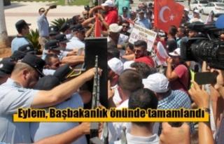 Karpazlıların eylemi, Başbakanlık önünde tamamlandı