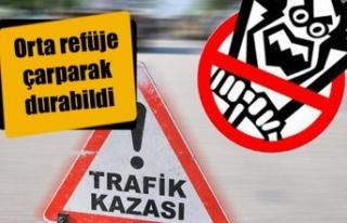 Serhatköy yakınlarında trafik kazası, 1 yaralı