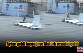 Akdoğan'a ayine geldi bayrağı ve Atatürk...