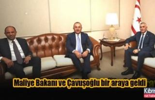 Maliye Bakanı ve Çavuşoğlu bir araya geldi
