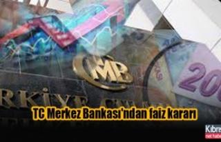 TC Merkez Bankası'ndan faiz kararı