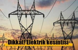 Mehmetçik'te Yarın 4 Saatlik Elektrik Kesintisi