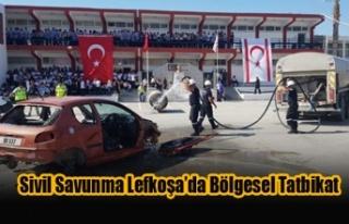 Sivil Savunma Lefkoşa'da Bölgesel Tatbikat İcra...