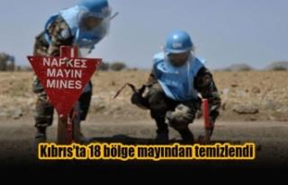 Kıbrıs'ta 18 bölge mayından temizlendi