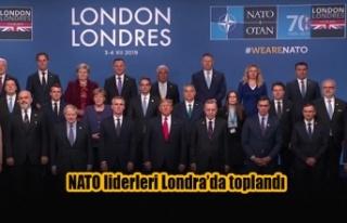 NATO liderleri Londra'da toplandı