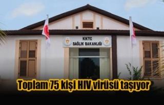 Toplam 75 kişi HIV virüsü taşıyor