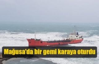 Mağusa'da bir gemi karaya oturdu