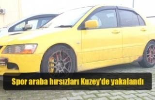 Spor araba hırsızları Kuzey'de yakalandı
