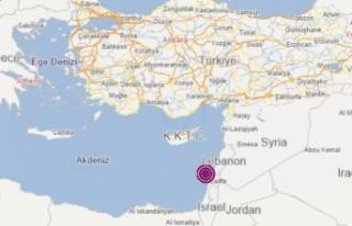 Akdeniz'de İsrail açıklarında şiddetli deprem