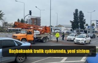 Başbakanlık trafik ışıklarında, yeni sistem