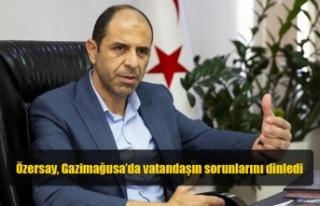 Özersay, Gazimağusa'da vatandaşın sorunlarını...