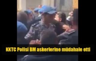 KKTC Polis BM askerlerine müdahale etti